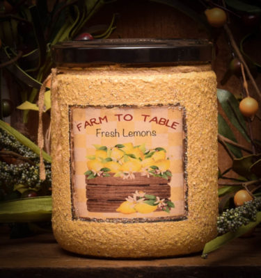 16 oz Lemon Daisy Jar Candle