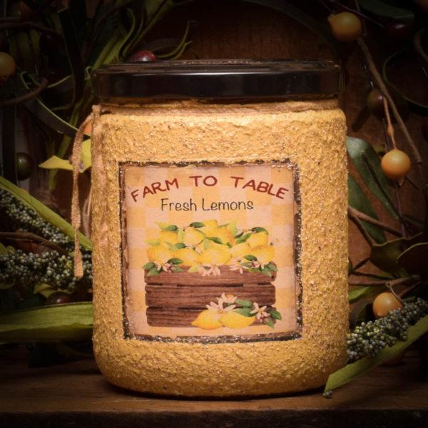 16 oz Lemon Daisy Jar Candle