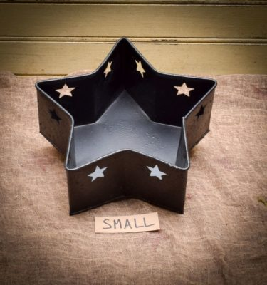 small tinware star pan