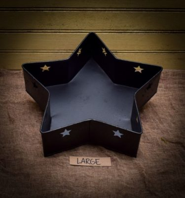 large tinware star pan