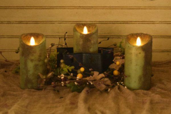 3x6 real look timer pillar in herb green display