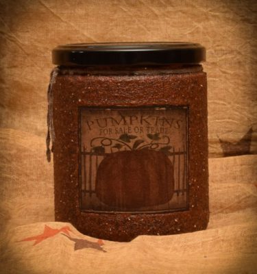 Pumpkin Star Patch 16 oz Jar Candle