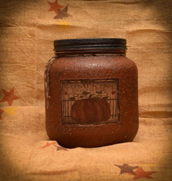 Pumpkin Star Patch 64 oz Jar Candle