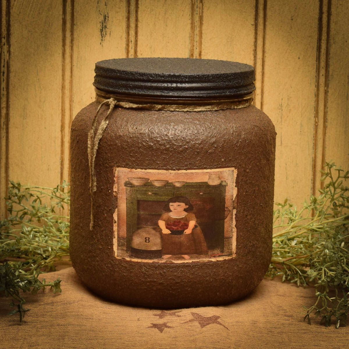 Country cupboard jar candle 64 oz herbal star candles for Most popular candles