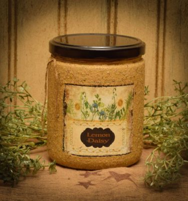lemon daisy 16 oz jar candle