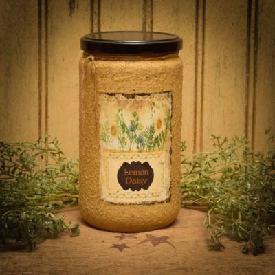 lemon daisy 24 oz jar candle