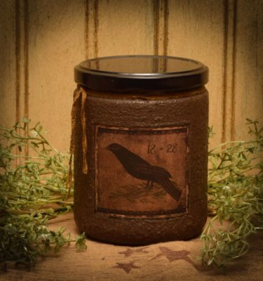 primitive bird 16 oz jar candle