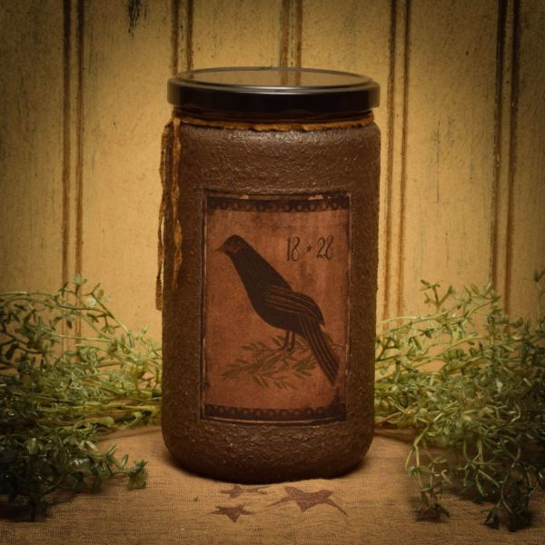 primitive bird 24 oz jar candle