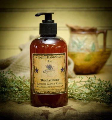 old fashioned lavender 8 oz liquid hand soap
