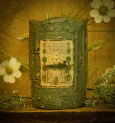 4x6 Drizzled timer pillar-Herb