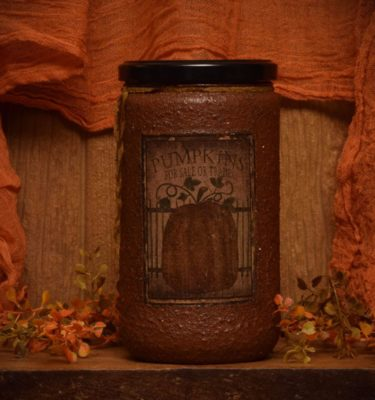 Pumpkin Star Patch 24 oz Jar Candle