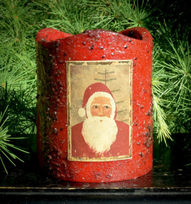 Red 5x6 Timer Pillar with Santa