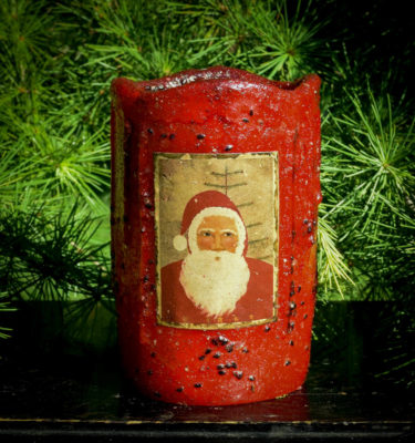 Red 4x6 Timer PiIllar with Santa Label