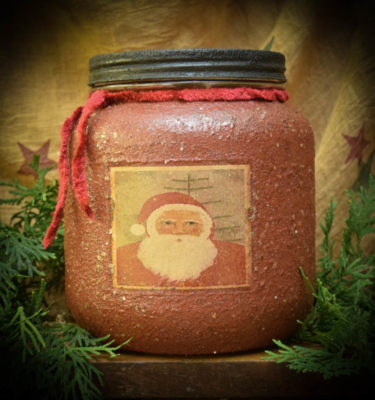 Old Santa Cinnamon 64 oz Jar Candle