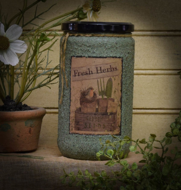 Fresh Herbs 24 oz Jar Candle