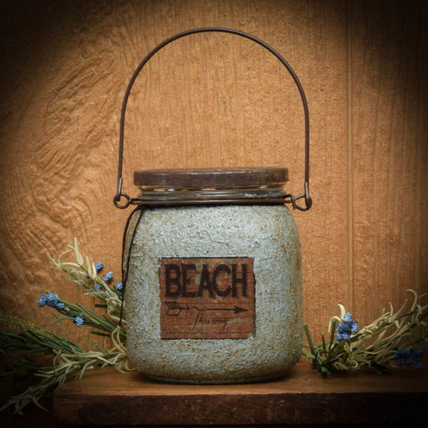 Beach handle jar candle