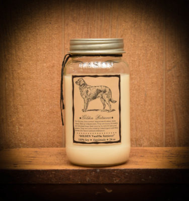 Golden Vanilla Retriever soy jar candle