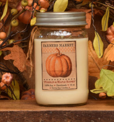 Pumpkin Maple Scones 16 oz jar candle