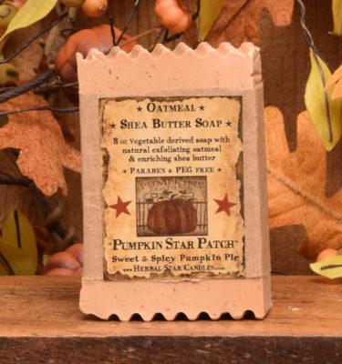 Pumpkin Star Patch 8 oz bar of soap