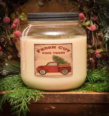 Fresh Pine and Bayberry 64 oz jar candle