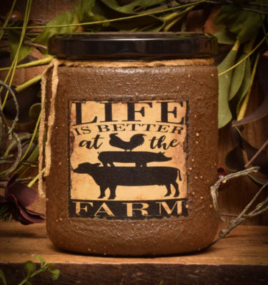 country gathering 16 oz jar candle