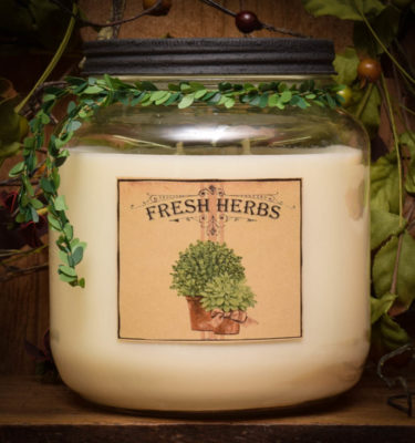 fresh herbs 64 oz jar candle