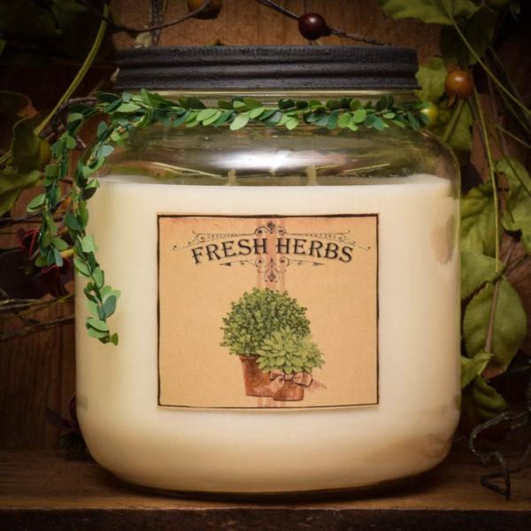 fresh herbs 64 oz jar candle