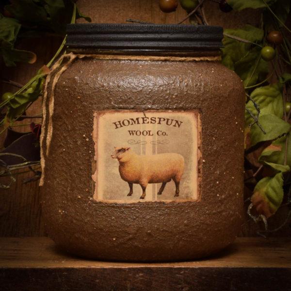 sheep half gallon jar candle