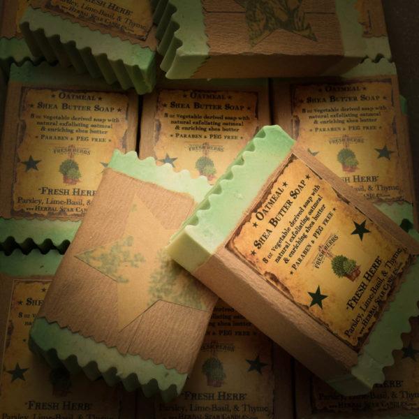 fresh herbs bar soap