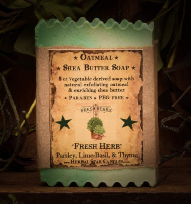 fresh herbs bar soap