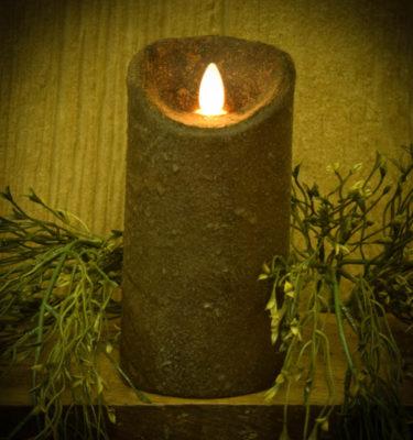 3x6 Primitive Brown Timer Pillar