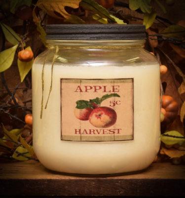 apple harvest 64 oz jar candle