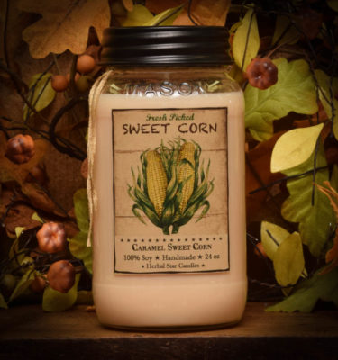 Caramel Sweet Corn 24 oz jar candle