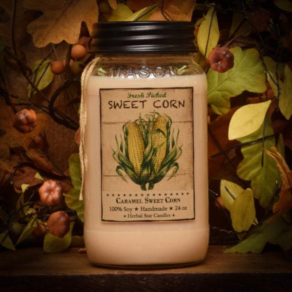Caramel Sweet Corn 24 oz jar candle