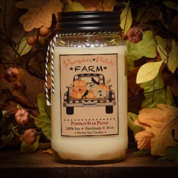 Pumpkin Star Patch Soy 24 oz Jar Candle
