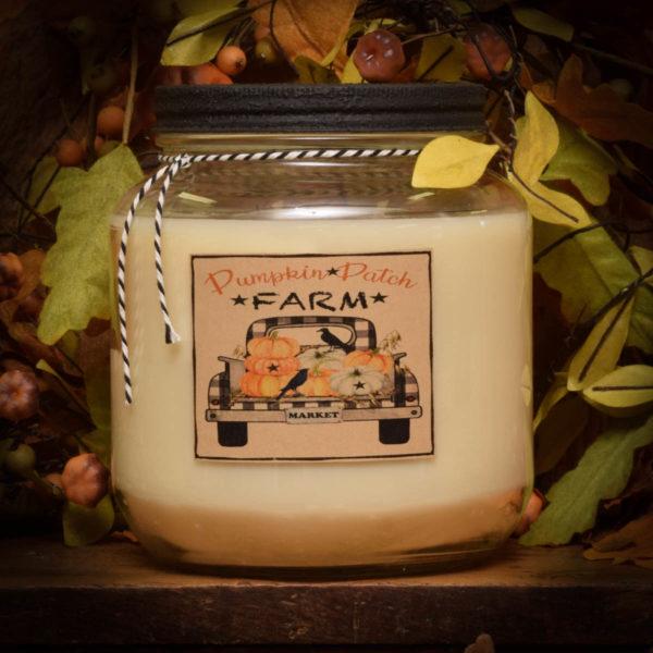 Pumpkin Star Patch Soy 64 oz Jar Candle