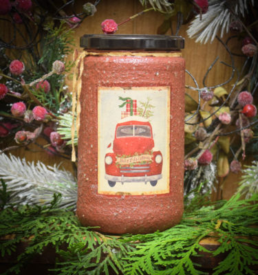 Olde Holiday Glow 24 oz Jar Candle