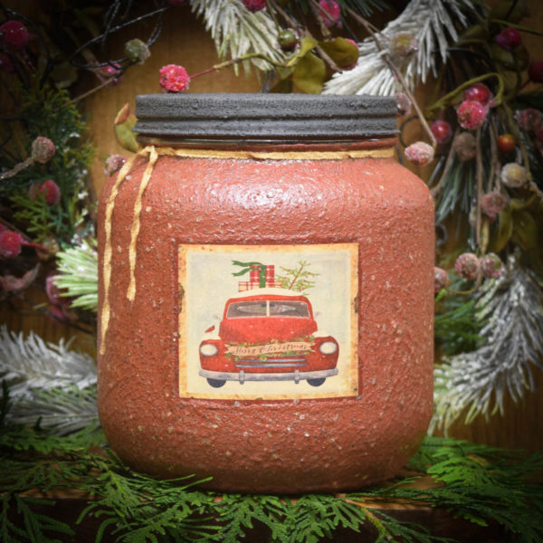 Olde Holiday Glow 64 oz Jar Candle