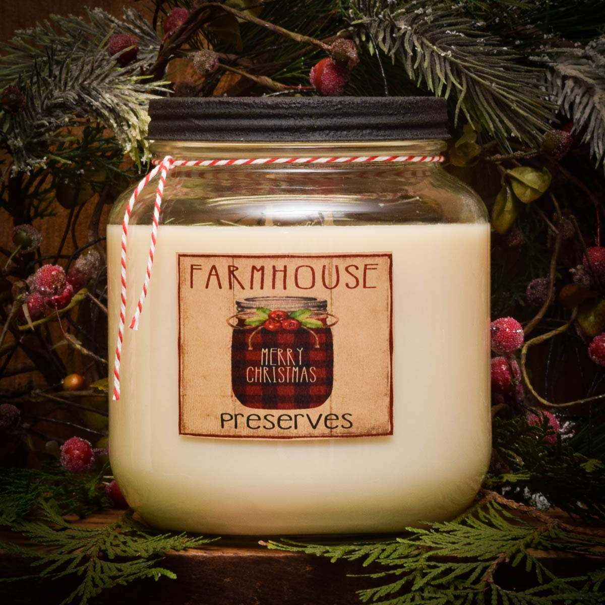 Apple Crisp Christmas 64 Oz Soy Jar