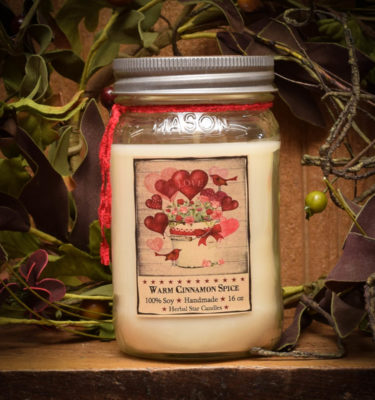 Valentines Day 16 oz jar candle