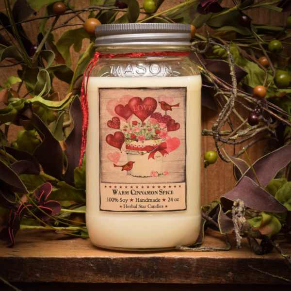 Valentines Day 24 oz jar candle