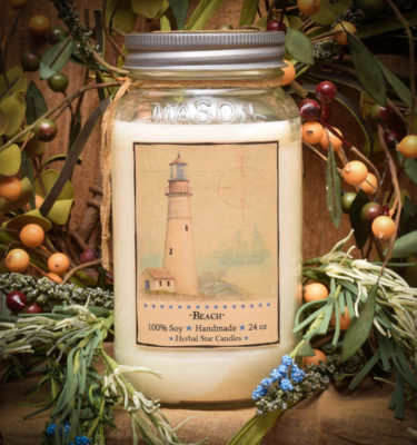 Beach 24 oz jar candle
