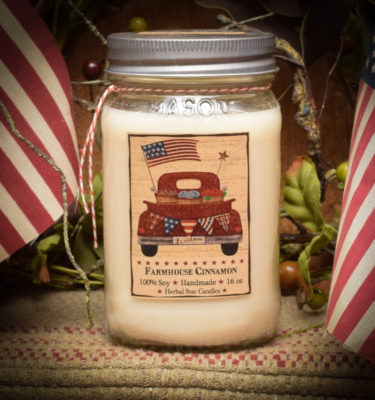 farmhouse cinnamon 16 oz jar candle