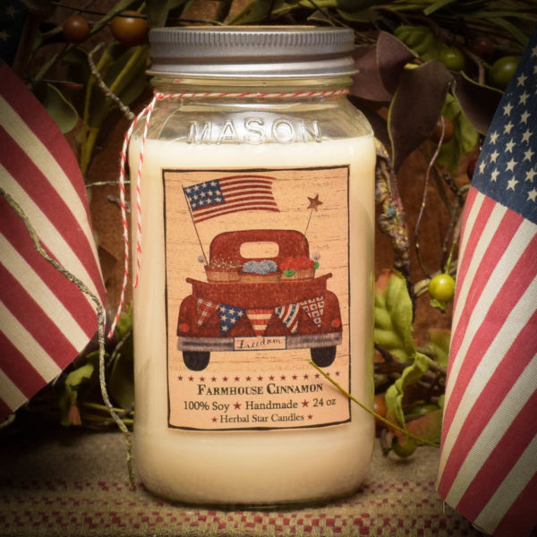 Farmhouse Cinnamon 24 oz jar candle