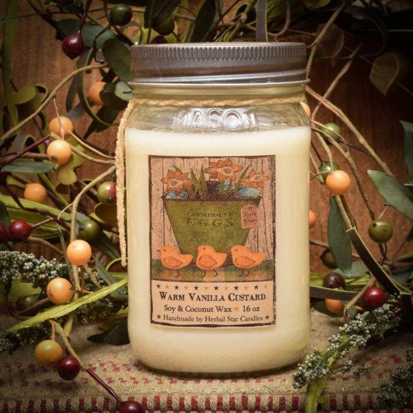 Vanilla Custard/My Peeps 16 oz Jar Candle