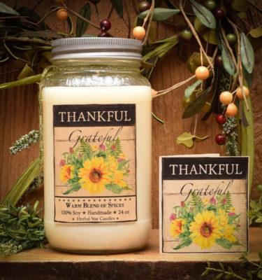 Gratitude Scentiment Jar Candle