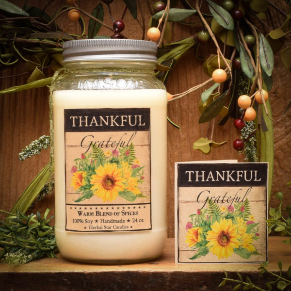 Gratitude Scentiment Jar Candle
