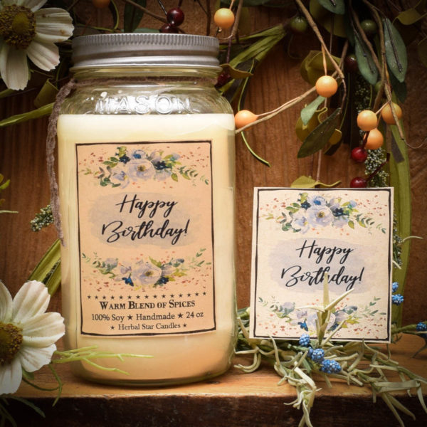 Happy Birthday 24 oz jar Candle