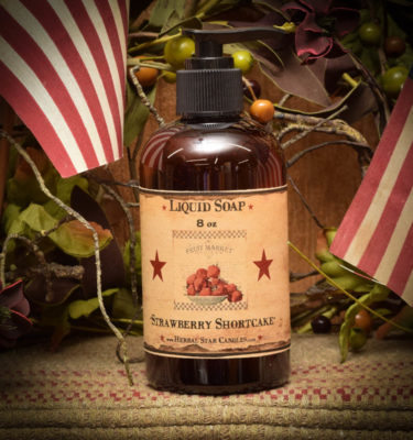 strawberry shortcake liquid soap