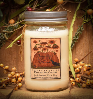 Praline Nut Cluster 16 oz jar candle